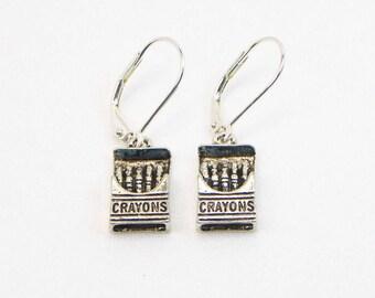 Crayon Earrings - Dangle Earrings - Teacher Earrings - Childs Earrings - Gift For Her