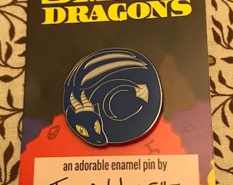 Smol Dragons - Blue Dragon Enamel Pin