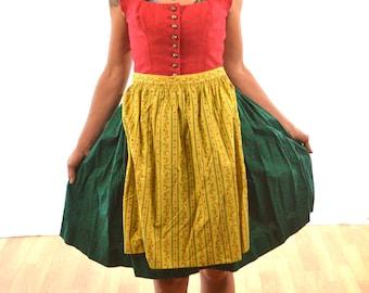 Vintage 1960s Dirndl Dress - Tostmann Original Oesterr-Trachten Germany