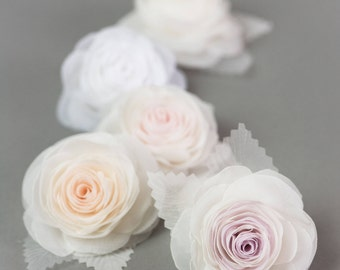rose hair clip bridal hair flower rose hair pin wedding hair flower