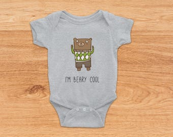 Bear Onesie, Going Home Outfit, Newborn Baby Gift, Baby Shower Gift, Baby Girl Onesie, Baby Boy Onesie, Summer Baby Clothes, Baby Bodysuit