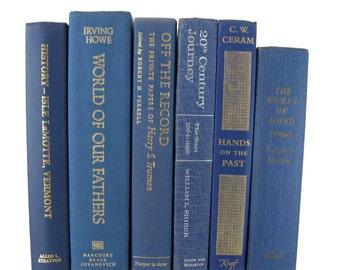 Vintage Blue Decorative Book ,  Book ThemeDecor, vintage book , Blue Books, old book , vintage book bundle , photo prop , wedding decor