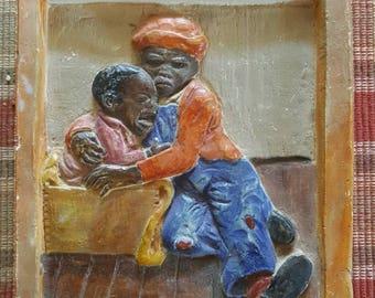 Black Americana / Sculpture on Plaster/Brothers