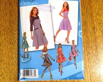 DESIGNER Project Runway Fit and Flare Dress w/ Cute Details (Design Your Own!) - Plus Size (12 - 20) - UNCUT Sewing Pattern Simplicity 1687