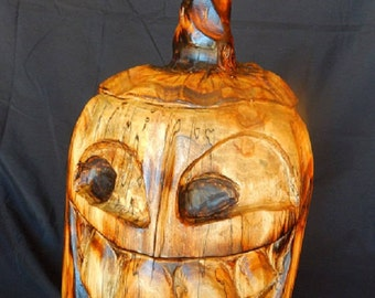 Chainsaw Carving Jack O Lantern