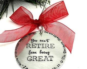 Retirement Gift Ideas - Retirement Christmas Ornament - The Charmed Wife - Christmas Gift Ideas - Retirement Party Gift - Service Retirement