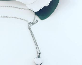 Personalized Cremation Urn Necklace - Heart Cremation Jewelry Urn Jewelry Memorial Jewelry - Remembrance Jewelry for Loss - Heart Jewelry