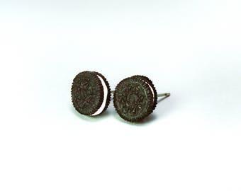 Oreo cookie biscuit Earrings