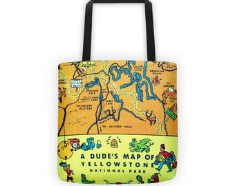 National Parks Tote Bag, Yellowstone, Glacier, Custom Map Tote Bag, Summer Outdoors National Parks Custom Map Beach Bag, Summer outdoors