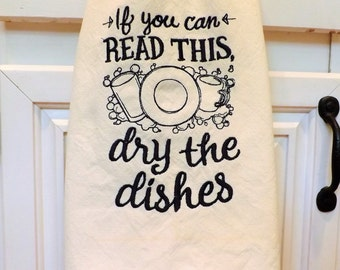 Dry the Dishes!! Tea Towel