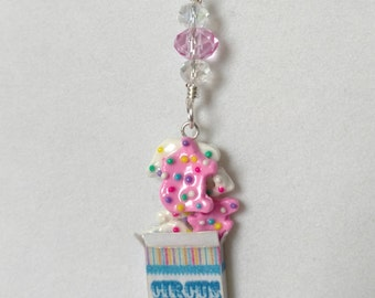 Frosted Animal Cookies Pendant Charm Necklace