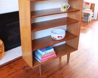 Mid Century Wooden Book Display Shelf 1950s PICK UP Sydney