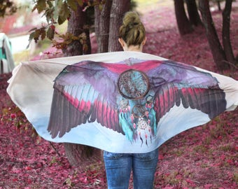 Wings Scarf Oversized Scarf Boho Gift Girlfriend Boho Wrap Feather Shawl Bohemian Gift Idea Feather Wings Gift for Her