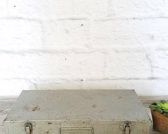 Vintage 35mm Slide Storage Box. Mid Century Metal Slide Storage Box.