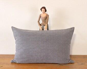 GRAY Asian Pillow Cover, 24x16 Throw Pillow cover, Vietnamese Pillow, Geometrical pillow, lumbar pillow, Modern pillow