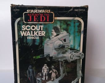 1983 Star Wars Scout Walker Vehicle Return of the Jedi Kenner
