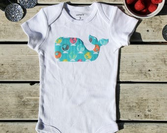 Whale Baby Onesie®, Baby Shower Gift, More Fabric Available