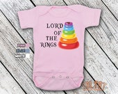 Bodysuit or Toddler Shirt, Lord Of The Stacking Rings, Baby Bodysuit, Baby Shower Gift, Girls, Boys