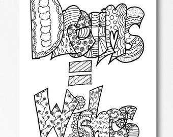 DREAMSWISHES Printable Coloring Pages Use As A Party Favor Wall Art