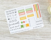 Hobonichi Weekly Planner Stickers; Summer Kit; Weekly Sticker Kit; Hobonichi Techo Cousin Sticker
