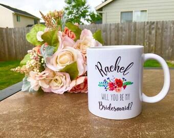 bridesmaid mug / bridesmaid gift / bridesmaid / personalized mug / bridesmaid mug / bridesmaid gift / bridal party gift / wedding / proposal