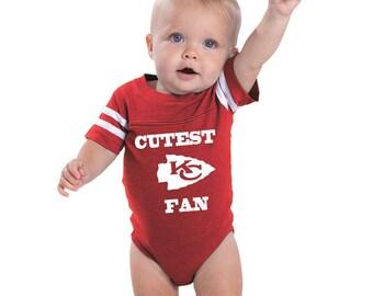 Kansas city baby etsy kansas city chiefs cutest fan onesie makes a perfect baby gift go chiefs negle Choice Image