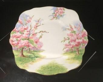 Royal Albert Blossom Time Large Handled Cake Plate