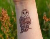 Barn Owl Tattoo Temporary