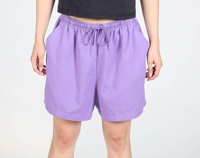 Purple Drawstring Shorts