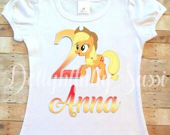Applejack Shirt, My Little Pony Shirt, MLP Birthday, Applejack Shirt, Personalized Shirt, My Little Pony, Personalized Birthday Shirt