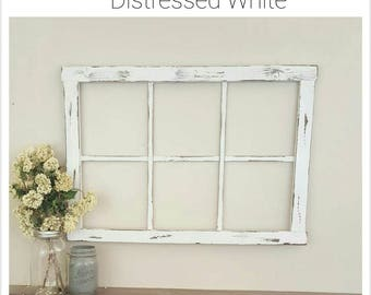 Faux Window Frame - Window Frame - Wall Decor - Home Decor - Mantel Decor