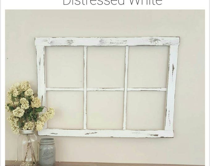 Faux Window Frame - Window Frame - Window - Rustic Window - Antique Window Frame - Wall Decor - Home Decor - Mantel Decor
