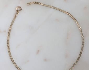 Delicate Sterling Silver Anklet - Sterling Chain Anklet