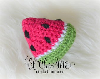 Watermelon Baby Rattle, Crochet Watermelon Toy, Stuffed Watermelon Toy, Watermelon Photo Prop, Baby Gift