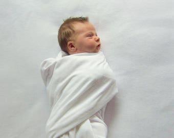 Hospital Receiving Blanket - Gender Neutral Swaddle Blanket - White Receiving Blanket - Baby Receiving Blanket - Baby Must Have