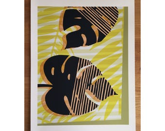 Monstera Plant Giclee Print