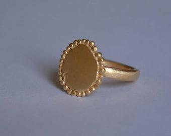Goldring matt  Matte gold ring | Etsy