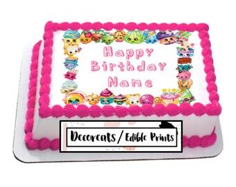 Shopkins Cake Topper, Shopkins Cupcake topper precut, Edible image,  cupcake topper,