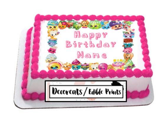 Shopkins Cake Topper Cupcake Precut Edible Image