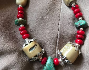 White Coral and Turquoise Set