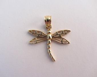 14k Gold Dragonfly Charm - 1.27g