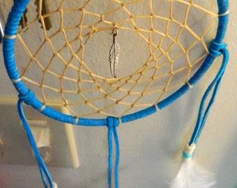 Blue Feather Dreamcatcher