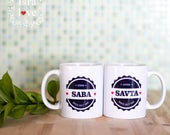 "Grandparents Mug - Hebrew ""Saba"" & ""Savta"" -Rosh Hashanah, mug, jewish gift, Grandpa, Grandma, Mazel Tov, Judaica - personalized by isralove"