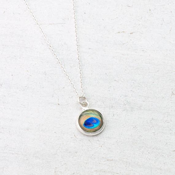 Dainty Peacock Necklace