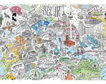 Berlin Map, Berlin City Map, Berlin Map Print, Berlin Print, Berlin Poster, Map Of Berlin, Berlin Map Wall Art