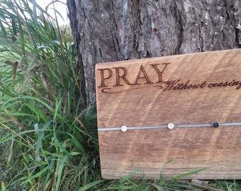 Barnwood Art - PRAY WITHOUT CEASING