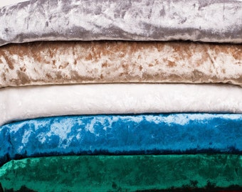 Crushed Velour Fabric, Panne velour fabric, Upholstery Velour Stretch Velvet Heavy weight, 22 solid colors-by the yard