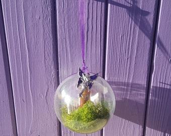Faery Bauble, Fire Glitter Dust, Fairy Scroll Wish, Good Luck Charm, Pagan Beltane Altar, Miniature Bottle, Mystical Home Decor, Wiccan Fae