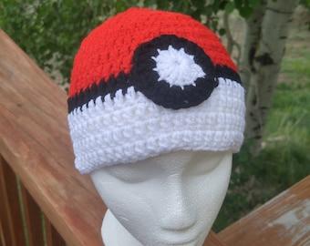 Pokemon Crochet Hat - Crochet Beanie - Pokemon Beanie - Handmade Pokemon Beanie - Crochet Hat - Winter Hat - Fall Hat - Pokemon