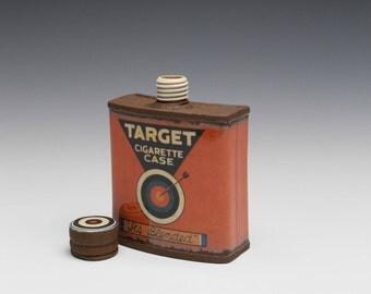 """Small Porcelain Hip Flask """"Target Cigarette Case"""""""